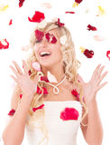 Beautiful laughing bride. Royalty Free Stock Image