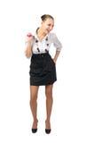 Beautiful laughing businesswoman stock photo