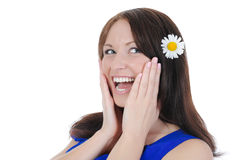 Beautiful laughing girl. Stock Image