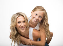 Beautiful laughing mother and child play together Royalty Free Stock Photos