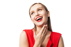 Beautiful laughing woman Royalty Free Stock Images