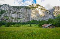 Beautiful Lauterbrunnen valley, Switzerland Stock Images
