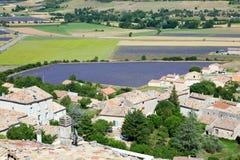 Beautiful lavender field near Simiane-la-Rotonde Stock Photos