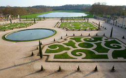 Beautiful lawns in Versailles Royalty Free Stock Photography