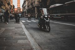 The Red beautiful city of Bologna royalty free stock images