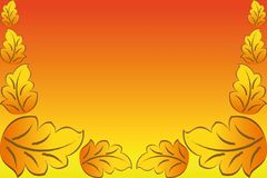 Beautiful Leaf On Background.Vector. Stock Photo