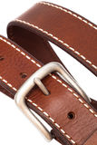 Beautiful and the leather belt Royalty Free Stock Photo