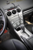 Beautiful leather interior of the modern car Stock Images