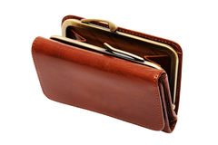 Beautiful leather purse Royalty Free Stock Photo