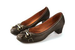Free Beautiful Leather Shoes In Brown Royalty Free Stock Photos - 168423948