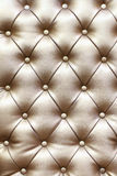Beautiful leather upholstery sofa. With buttons Stock Images