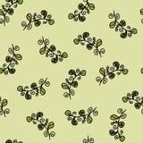 Beautiful leaves seamless pattern. Seamless vector pattern. Beautiful leaves on a green background Royalty Free Illustration