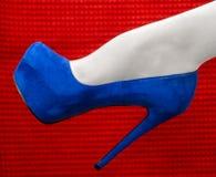 Beautiful leg in a high heeled shoe Royalty Free Stock Photo