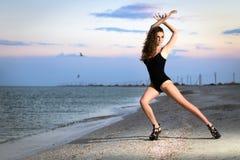 Beautiful leggy brunette Stock Photography