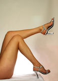 Beautiful legs. Studio image showing isolated close up of a females beautiful legs Stock Images
