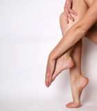 Beautiful legs and arms isolated Stock Photo