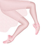 Beautiful legs of the ballerina Stock Photo