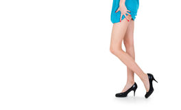 Beautiful legs with black shoes Stock Image