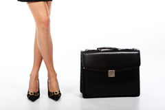 Beautiful legs of the business woman   Stock Image