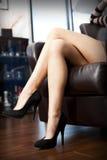 Beautiful  legs crossing Stock Image