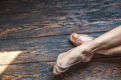 Beautiful legs of dancing girl Royalty Free Stock Photography