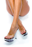 Beautiful legs of the girl royalty free stock photos