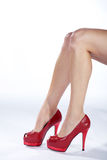 Beautiful legs high heels Royalty Free Stock Photo