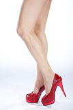 Beautiful legs high heels Royalty Free Stock Photos