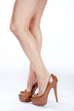 Beautiful legs with high heels Stock Images