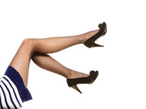 Beautiful legs in nice pantyhose Royalty Free Stock Images