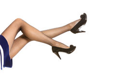 Beautiful legs in nice pantyhose Stock Photos