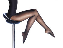 Beautiful legs in nice stockings Stock Photo