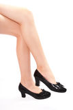 Beautiful legs girls in high heels. Beautiful legs teenager girls in high heels royalty free stock photography