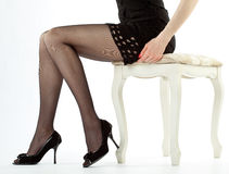 Beautiful legs of young woman Stock Images