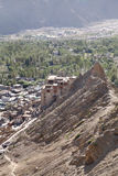 Beautiful Leh Palace a view from Tsemo monastery Royalty Free Stock Images