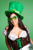 Beautiful Leprechaun Woman Stock Image