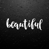 Beautiful lettering calligraphy. Royalty Free Stock Photography