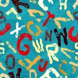 Beautiful letters graffiti on a blue background geometric grunge texture Stock Image