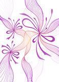 Beautiful light abstract background with lace flowers bows lilac on white Stock Photo