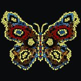 Beautiful, light, airy butterfly mosaic. Fashionable ornamental pattern. Royalty Free Stock Images