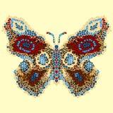 Beautiful, light, airy butterfly mosaic. Fashionable ornamental pattern. Stock Image