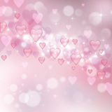 Beautiful light background to the Valentine's day Stock Images