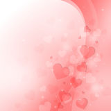 Beautiful light background to the Valentine's day Royalty Free Stock Image