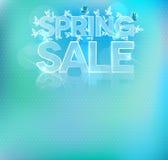 Beautiful light blue sale brochure Stock Photography