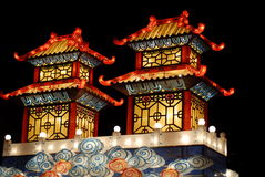Beautiful light in china town royalty free stock photos