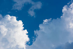 Beautiful Light clouds blue sky in sunshine day Stock Photography