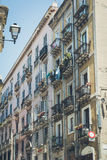 Beautiful light colored buildings in Cagliari, Sardinia Stock Photography