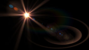 Beautiful light flares. Glowing streaks on dark background. luminous background Royalty Free Stock Images