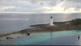 Beautiful Light House in the Bahamas stock photography