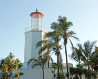 Beautiful light house in montecito, california Royalty Free Stock Photo